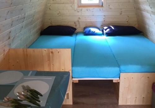 Innenraum TinyHaus - Schlafen für max. 3 Personen